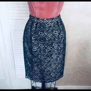 Emmanuel Ungaro Black Lace Skirt